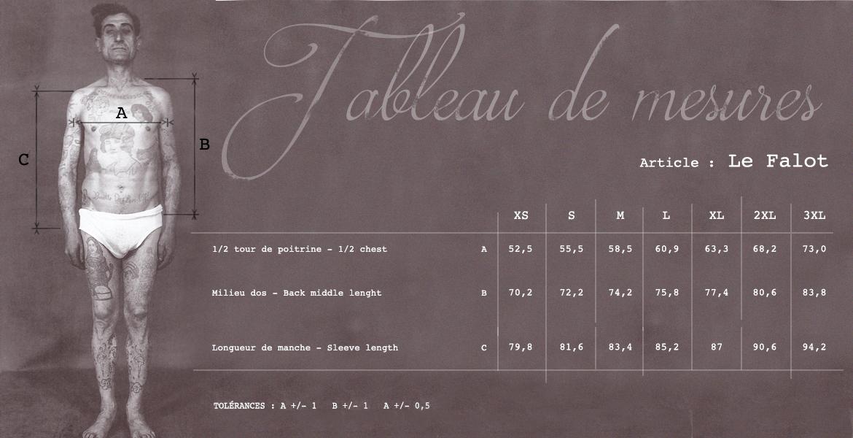 Size Chart La Falot