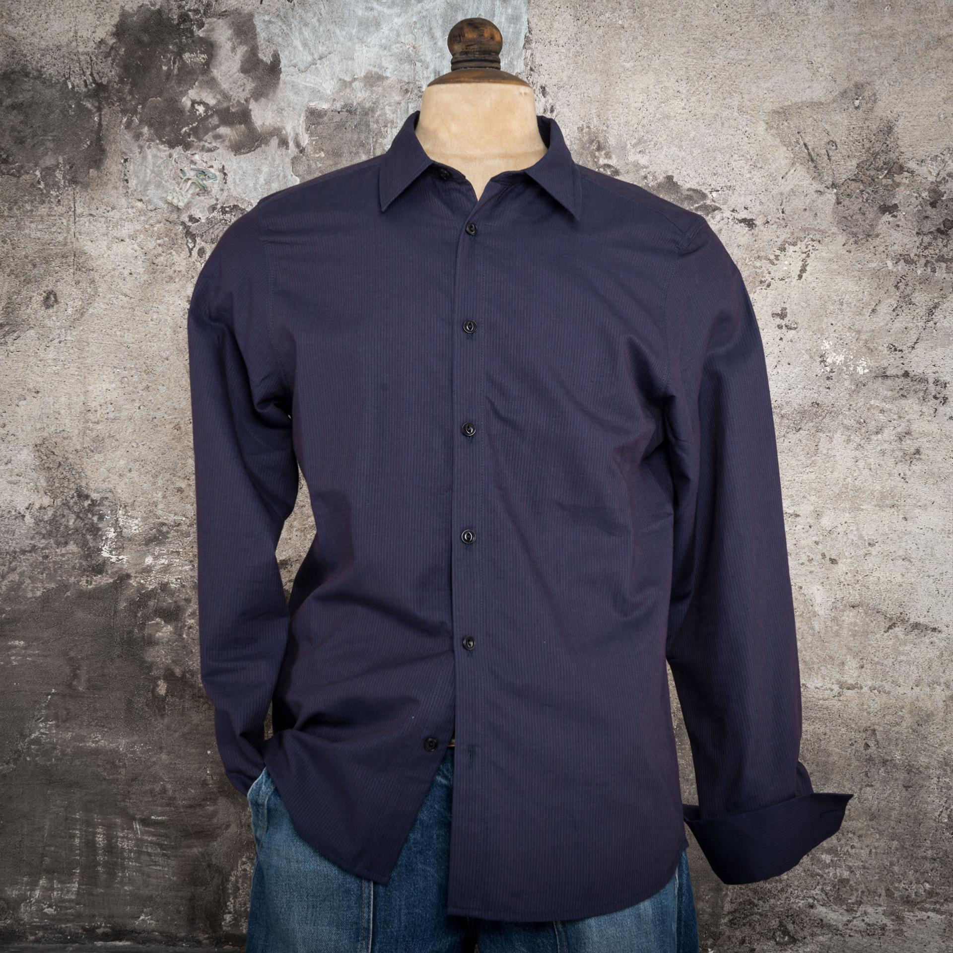 "THE ""CLASSIC"" SHIRT INDIGO STRIPES"