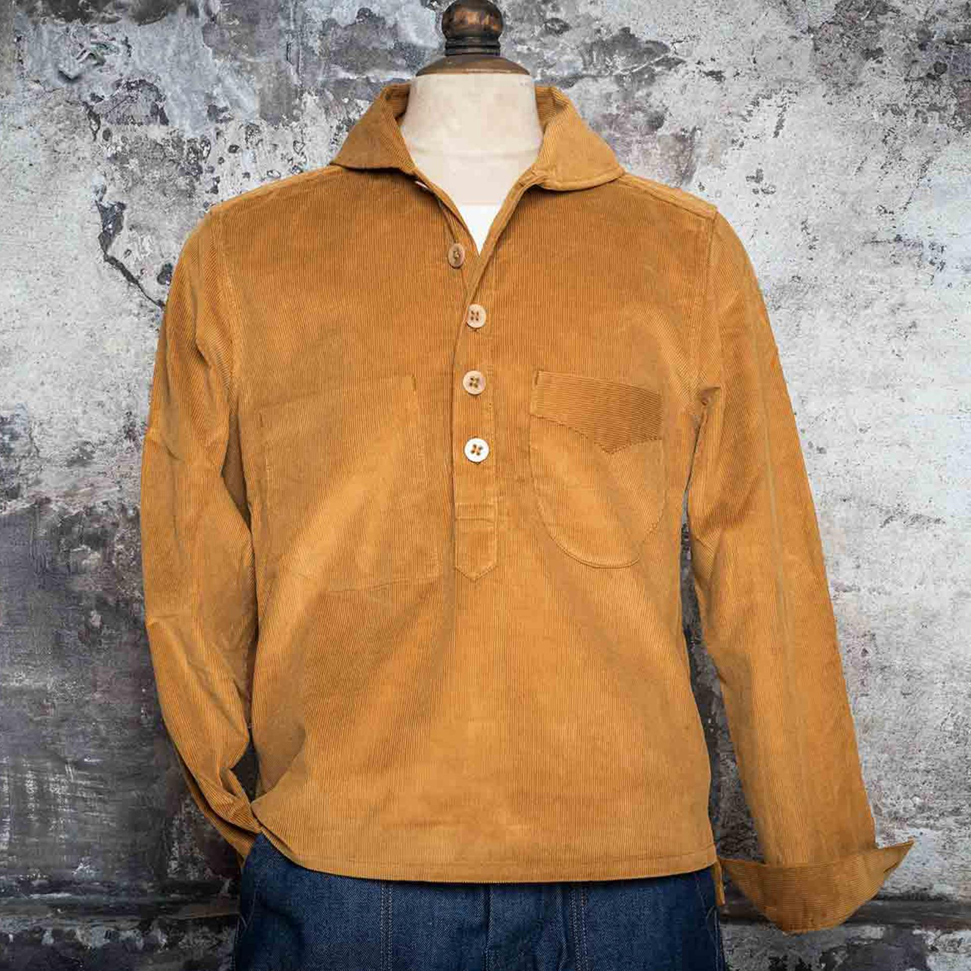 "THE ""GABES"" SHIRT - Gold corduroy"