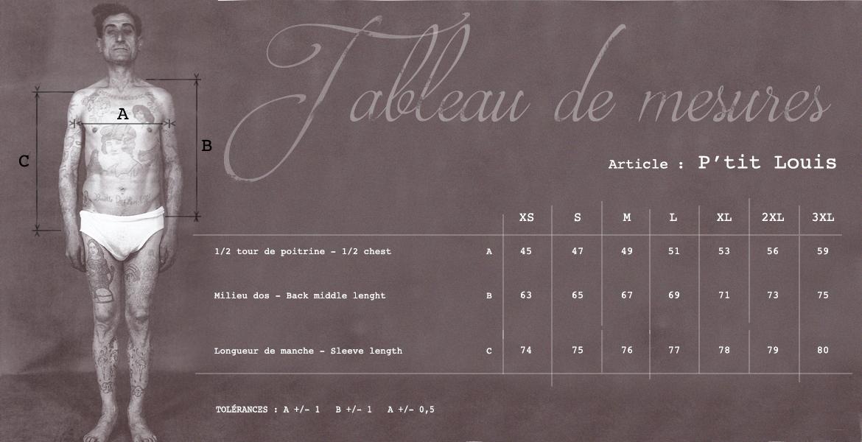 Louis Cardigan Size Chart